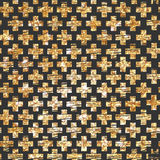 Золотая перекрестная безшовная предпосылка картины Битник Стоковое Фото