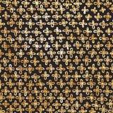 Золотая перекрестная безшовная предпосылка картины Битник Стоковая Фотография RF