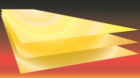 Золотая посуда 3 на красном градиенте предпосылки Стоковое Изображение RF