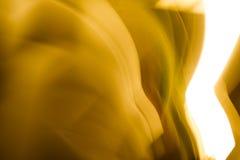 Золотая предпосылка верхнего слоя светов с bokeh Стоковая Фотография RF