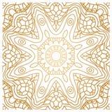Золотая предпосылка в форме цветка декоративный сбор винограда элементов востоковедно Стоковое Фото