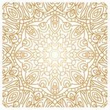 Золотая предпосылка в форме цветка декоративный сбор винограда элементов востоковедно Стоковое Изображение