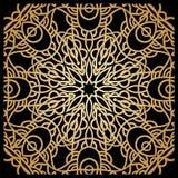 Золотая предпосылка в форме цветка декоративный сбор винограда элементов востоковедно Стоковые Фотографии RF
