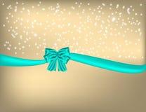 Золотая предпосылка рождества с смычком бесплатная иллюстрация