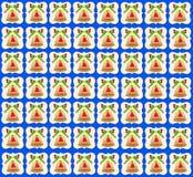 Золотая предпосылка сини обоев колокола рождества иллюстрация штока