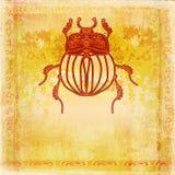 Золотая предпосылка скарабея Стоковые Изображения RF