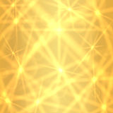 Золотая предпосылка с сверкная звездами мерцания Стоковая Фотография RF