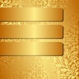 Золотая предпосылка Стоковые Изображения