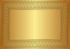 Золотая предпосылка Стоковые Фото