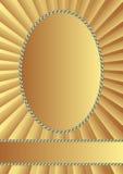 Золотая предпосылка Стоковое Изображение