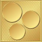 Золотая предпосылка Стоковые Фотографии RF