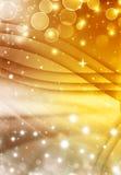Золотая предпосылка bokeh Стоковое Изображение RF