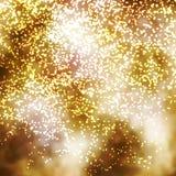 Золотая раскаленная добела блестящая иллюстрация предпосылки частицы Стоковая Фотография RF