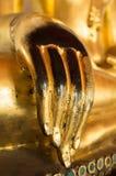 Золотая рука Будды Стоковые Изображения