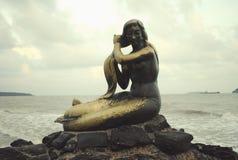 Золотая русалка Стоковые Изображения