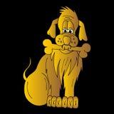 Золотая собака Стоковые Фотографии RF