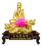 Золотая статуя китайского бога Стоковое фото RF