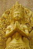 Золотая статуя Стоковое Изображение