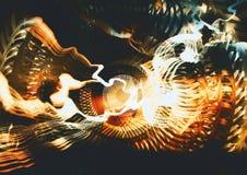 Золотая сюрреалистическая фракталь Стоковое Изображение RF