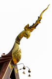 Золотая тайская линия искусство стиля стоковое изображение