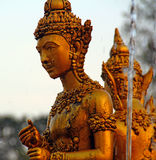 Золотая тайская скульптура Стоковое Фото