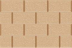 Золотая текстура каменной стены безшовная Стоковые Изображения