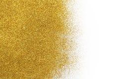 Золотая текстура песка яркого блеска на белой, абстрактной предпосылке Стоковые Изображения RF