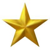 Золотая традиционная звезда рождества изолированная на белой предпосылке Стоковые Фото