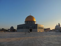 Золотая усыпальница мечети al-Aqsa, Иерусалима Стоковые Фотографии RF