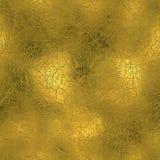 Золотая фольга текстура безшовных и Tileable роскошная предпосылки Блестящим сморщенная праздником предпосылка золота Стоковое Фото