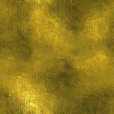 Золотая фольга текстура безшовных и Tileable роскошная предпосылки Блестящим сморщенная праздником предпосылка золота Стоковая Фотография