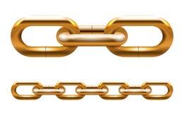 Золотая цепь Стоковые Изображения