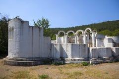 Золотая церковь в старом болгарском прописном Preslav Стоковая Фотография