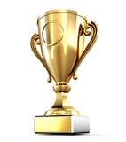 Золотая чашка изолированная на белой предпосылке 3d представляют цилиндры image бесплатная иллюстрация