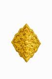 Золотая штукатурка цветка в традиционном тайском стиле цветок золотистый Стоковая Фотография
