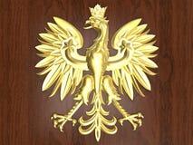 Золотая эмблема Польши иллюстрация вектора