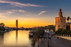 золотистая башня Стоковые Изображения