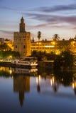 золотистая башня seville Стоковая Фотография RF