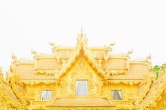 Золотистая пагода на тайском виске, Khonkaen Стоковые Изображения