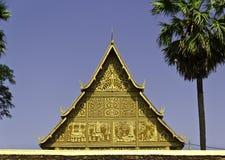 Золотистая пагода на Wat Pha-Что Luang в Vientian.This будизм Стоковое Изображение RF