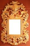 Золотистая рамка год сбора винограда Стоковая Фотография