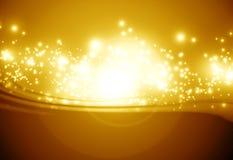Золотистая сверкная предпосылка Стоковая Фотография