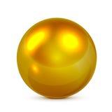 золотистая сфера Стоковое Изображение RF