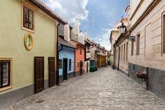 Золотистая улица Прага Стоковое фото RF