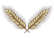 золотистая хлебоуборка иллюстрация штока