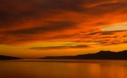 золотистое небо Стоковое Изображение RF
