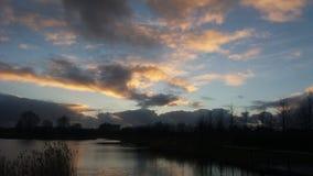 золотистое небо Стоковые Изображения RF