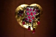 золотистое сердце Стоковые Фотографии RF