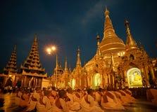 золотистое shwedagon pagoda Стоковая Фотография
