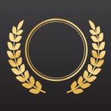 золотистые лавровые венки Стоковая Фотография RF